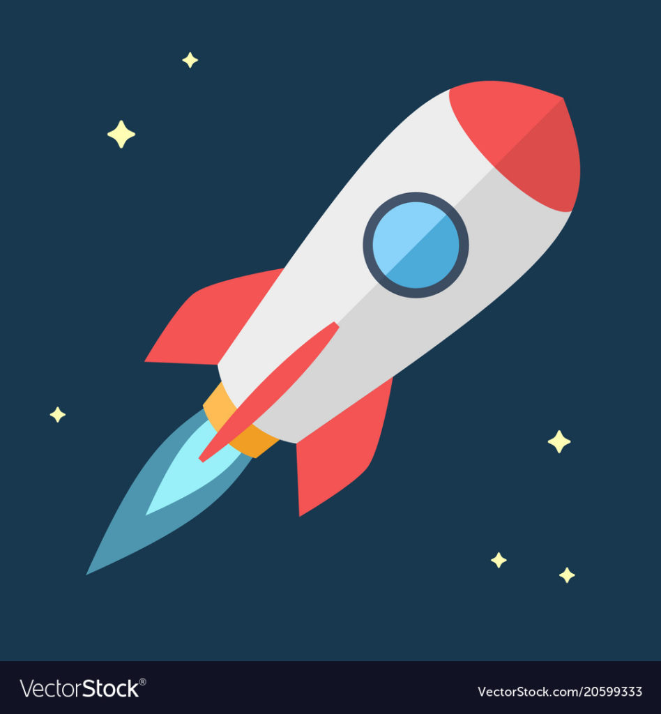 Simple+Flying+rocket%2C+spaceship.+Vector+Flat+design+illustration