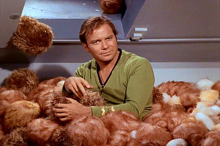 Tribbles with Kirk from Star Trek