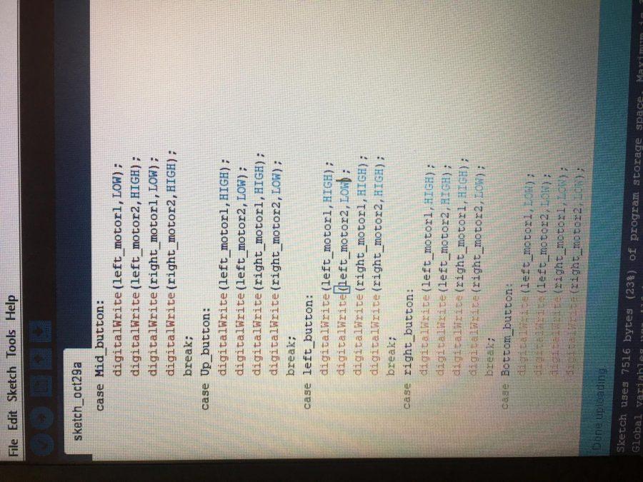 Arduino code for dc motors.