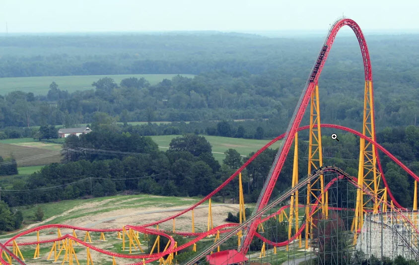 Picture Of Roller Coaster. Source:  https://www.tripsavvy.com/intimidator-305-roller-coaster-review-3225693