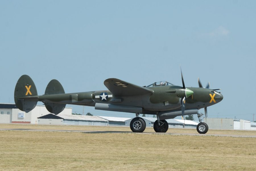 """""""AirExpo 2012 - P-38J Lightning """"Ruff Stuff"""""""" by pmarkham is licensed under CC BY-SA 2.0"""
