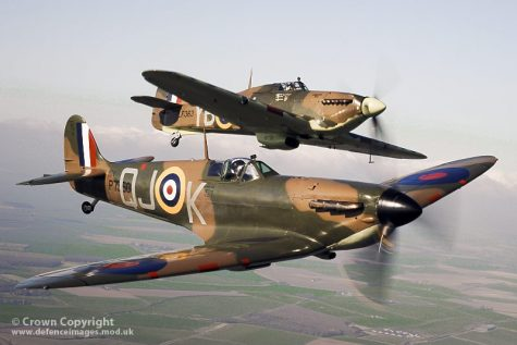 """WW2 Spitfire and Hurricane Aircraft from BBMF"" by Defence Images is licensed under CC BY-NC-ND 2.0"