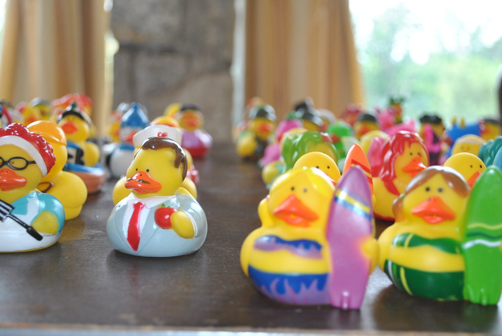 """""""Rubber Ducks!"""" by dmuth is licensed under CC BY-SA 2.0"""