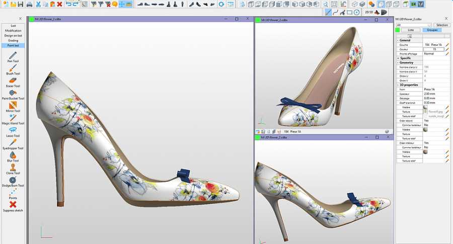 A shoe being designed in CAD so it can be printed and displayed.  Photo Source:  Romans CAD