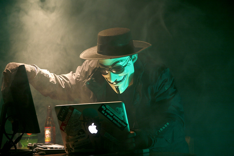 Anonymous Hacker by dustball is licensed under CC BY-NC 2.0