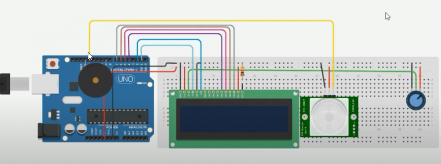 Covid-19 Human Detector Using Tinkercad Circuits Elegoo