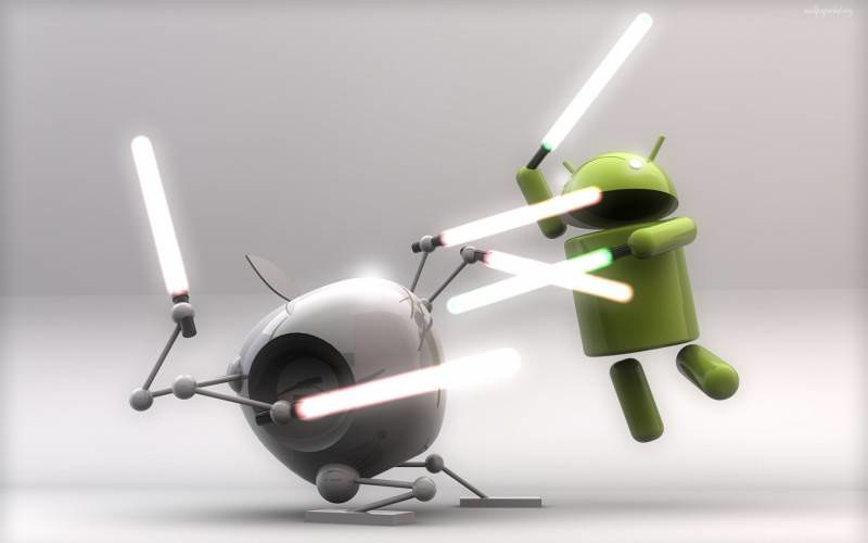 Apple+IOS+VS+Android