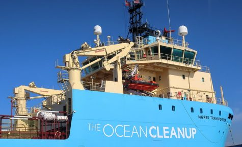 """200127 038 Maritime Museum of San Diego - Pilot boat cruise of San Diego Bay, Maersk Transporter Ocean Cleanup Vessel, designed to remove floating plastic waste from the ocean"" by cultivar413 is licensed under CC BY 2.0"