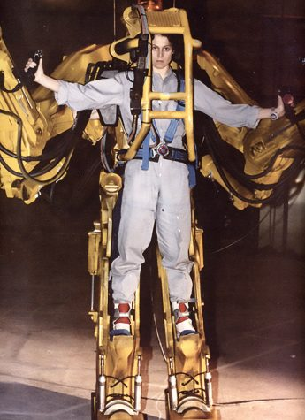 """Sigourney Weaver in the full size power loader from Aliens (1986)"" by gameraboy is licensed under CC BY-NC 2.0"