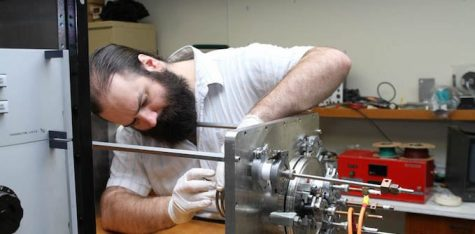 "Patrick ""Paddy"" Neumann works on the Neumann Drive. Photo: Neumann Space."
