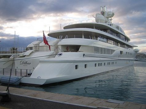 """""""File:Yacht Dilbar 17.jpg"""" by Axou is licensed under CC BY-SA 3.0"""
