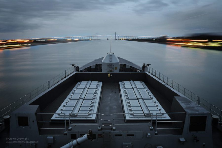 Type 45 Destroyer HMS Daring Passing Through The Suez Canal by Defence Images is licensed under CC BY-NC 2.0