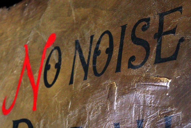 """""""Chirk Castle - no noise sign"""" by muffinn is licensed under CC BY 2.0"""